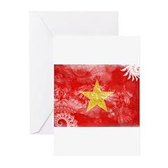 Vietnam Flag Greeting Cards (Pk of 20)
