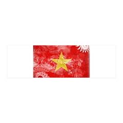Vietnam Flag 21x7 Wall Peel
