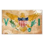Virgin Islands Flag Sticker (Rectangle 50 pk)