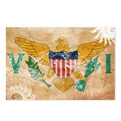 Virgin Islands Flag Postcards (Package of 8)