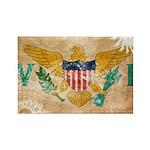 Virgin Islands Flag Rectangle Magnet (100 pack)