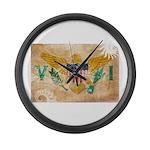 Virgin Islands Flag Large Wall Clock