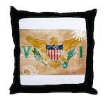 Virgin Islands Flag Throw Pillow