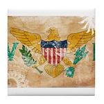 Virgin Islands Flag Tile Coaster