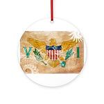 Virgin Islands Flag Ornament (Round)