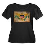 Virgin Islands Flag Women's Plus Size Scoop Neck D