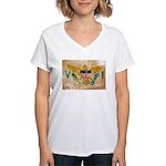 Virgin Islands Flag Women's V-Neck T-Shirt
