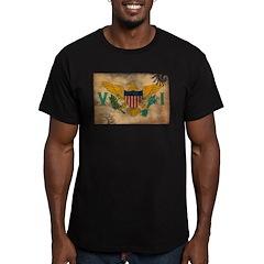 Virgin Islands Flag Men's Fitted T-Shirt (dark)