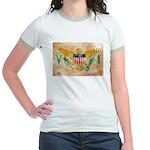 Virgin Islands Flag Jr. Ringer T-Shirt