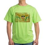 Virgin Islands Flag Green T-Shirt