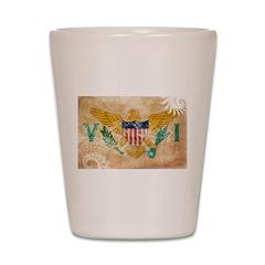 Virgin Islands Flag Shot Glass