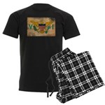 Virgin Islands Flag Men's Dark Pajamas