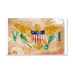 Virgin Islands Flag Car Magnet 20 x 12