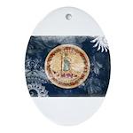Virginia Flag Ornament (Oval)