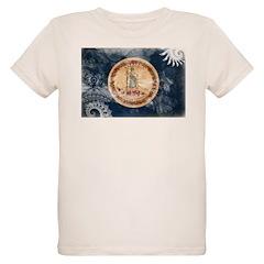 Virginia Flag Organic Kids T-Shirt