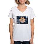 Virginia Flag Women's V-Neck T-Shirt