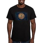 Virginia Flag Men's Fitted T-Shirt (dark)
