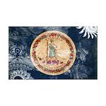 Virginia Flag 38.5 x 24.5 Wall Peel