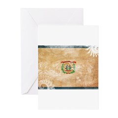 West Virginia Flag Greeting Cards (Pk of 10)