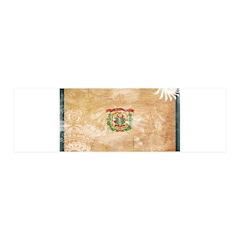 West Virginia Flag 42x14 Wall Peel
