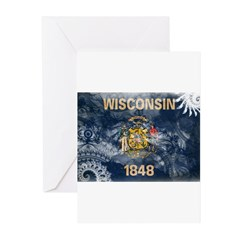 Wisconsin Flag Greeting Cards (Pk of 20)