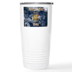 Wisconsin Flag Travel Mug