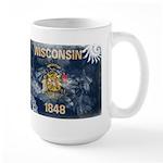 Wisconsin Flag Large Mug