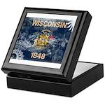 Wisconsin Flag Keepsake Box