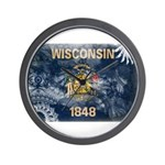 Wisconsin Flag Wall Clock