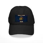 Wisconsin Flag Black Cap
