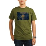 Wisconsin Flag Organic Men's T-Shirt (dark)