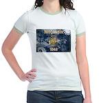 Wisconsin Flag Jr. Ringer T-Shirt