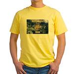 Wisconsin Flag Yellow T-Shirt