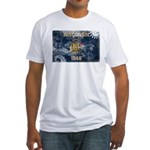 Wisconsin Flag Fitted T-Shirt