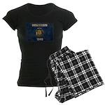 Wisconsin Flag Women's Dark Pajamas