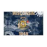 Wisconsin Flag 38.5 x 24.5 Wall Peel