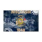 Wisconsin Flag 22x14 Wall Peel