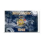 Wisconsin Flag Car Magnet 20 x 12