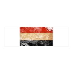 Yemen Flag 21x7 Wall Peel