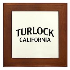 Turlock California Framed Tile