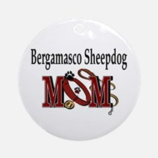 Bergamasco Sheepdog Mom Ornament (Round)