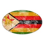 Zimbabwe Flag Sticker (Oval 50 pk)
