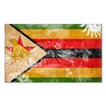 Zimbabwe Flag Sticker (Rectangle)