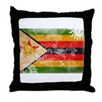 Zimbabwe Flag Throw Pillow