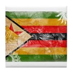 Zimbabwe Flag Tile Coaster