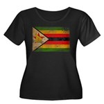 Zimbabwe Flag Women's Plus Size Scoop Neck Dark T-
