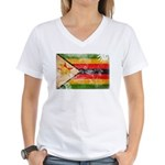 Zimbabwe Flag Women's V-Neck T-Shirt