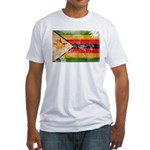 Zimbabwe Flag Fitted T-Shirt