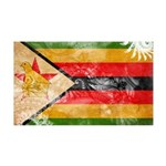 Zimbabwe Flag 38.5 x 24.5 Wall Peel