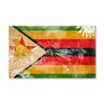 Zimbabwe Flag 22x14 Wall Peel